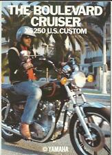 YAMAHA XS 250 US CUSTOM MOTORBIKE SALES BROCHURE 1980