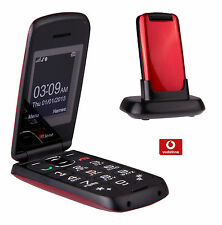 TTfone Star Big Button Flip Pay as you go Pre pay PAYG Mobile Phone Vodafone Red