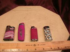 4 working Cigarette Lighters-NiBo Joker/Djeep Paris/Bic Hidz/209 deco-free ship