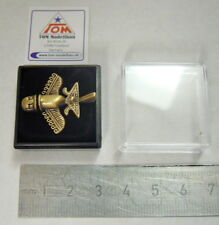 Goldflieger Nr.02 Pin / Anstecker Paläo SETI / Prä-Astronautik (Gold Antik)*NEU*