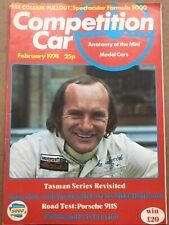 Competition Car Magazine - February 1974 - Mike Hailwood, Porsche 911S