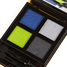 YSL Palette City Drive Arty 4 Wet & Dry Eye Shadows Grey Black Blue & Neon Green