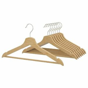 IKEA Bumerang Hangers Natural 8 Pack 302.385.43
