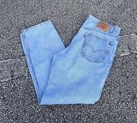 Mens Vtg 90s Levis 550 Relaxed Fit Light Denim Jeans Size 40 x 32 USA Made