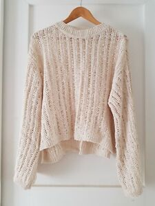 SPELL & The GYPSY Collective Sz L ecru Heather Knit Jumper As New!