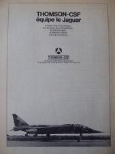 7/1975 PUB THOMSON-CSF AVIONIQUE SEPECAT JAGUAR VISEUR TELEMETRE SONDE FRENCH AD