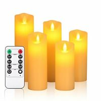 """OShine Flameless Candles,LED Candles Set of 5 6"""" 7""""8""""9"""" H(2.2"""" D) Flickering"""