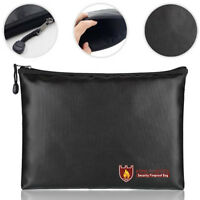 Fireproof Bag Waterproof Fire Safe Pouch Cash Money Security Documents File Case