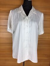 NNT Workwear Striped Cream Work Business Blouse Size 14 GUC