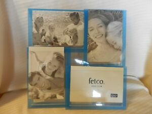 Blue Acrylic Photo Collage Frame Holds 4 Photos from Fetco Home Decor
