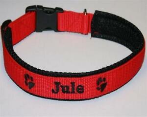 Halsband für Hunde mit Namen / Telefonnummer bestickt, mit Airmesh unterlegt