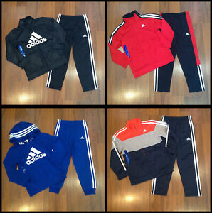 adidas Youth Boy's Multi-Color Tracksuit Size 5, 6, 7 New