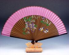 Beautiful Flowers & Butterfly Folding Fan Hand Fan Wall Decor w/ STAND #06231605