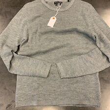 BNWT Stitch Note Merino Wool Crew Neck Sweater, Grey, Large