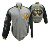 Green Bay Packers Men's Full-Zip 3x SB Champs Cloth Jacket NFL