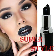 La Femme Black Ebony Lipstick Halloween Fancy Dress Goth Vamp Halloween Makeup