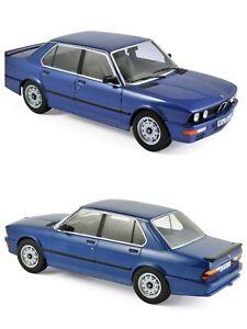 1/18 NOREV BMW M535i 1987 Blue Metallic New Box Original Shipping Home