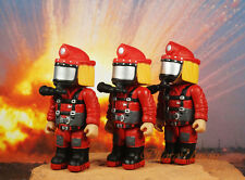 Mighty World Emergrency Fire Brigade Fireman Fighter Rescue Cake Topper Figure 3