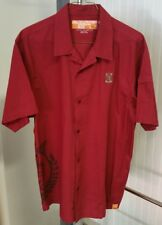 Harvard Crimson Nike Athletic Dept 855 Olive Street Red Button Shirt Men's XL