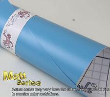 MATT Azzurro 1m (39.4 in) x1.52 m (59.8 pollici) Veicolo Avvolgere Adesivo Vinile Pellicola