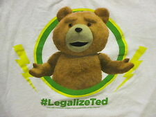 #LEGALIZE TED T SHIRT Hashtag Stuffed Animal Teddy Bear Movie Pot White Large