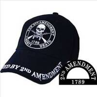 2nd Amendment, Black Cloth, High Quality Ball Cap.
