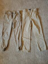 Boys Khaki Pants Size 12 Medium 2 Pairs
