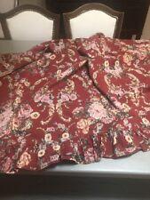 "Ralph Lauren Marseilles Danielle Red Floral Drapes Curtain Panels Pair-40""x 86""-"