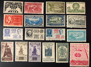 Mexico  Stamps 1934/1947 Mint Never Hinged