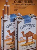 PUBLICITÉ PAPIER DE PRESSE 1972 CAMEL FILTER BLEND CIGARETTES - DROMADAIRE TABAC