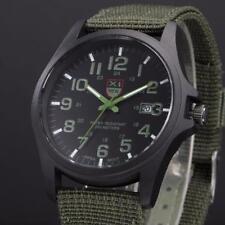 Outdoor Boys Mens Date Military Sport Watch Canvas Band Quartz Wrist Watch Cheap