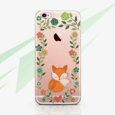Fox Floral Flowers Silicone iPhone XR XS Case Cover iPhone 6 7 8 Plus iPhone XS
