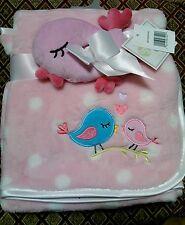 Baby Gear 2 Piece Bird Ultra Plush Nursery Blanket Lovey Toy Buddy Set NEW RARE