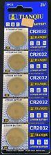 5 CR2032 CR 2032 DL2032 3 Volt Lithium Button Cell Battery EXP 2022 USA SHIP