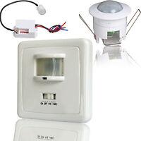 Mini Bewegungsmelder 360° zum Einbau Sensor PIR Unterputz Detector für LED 800W