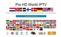 1Year IPTV subscription 5000+Sweden Arabic French Italy German + HDMI Cable