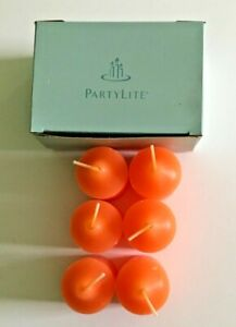 Partylite Orange Sherbet Scented Votive Candles - Box of 6 Candles