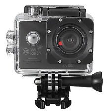16MP Waterproof Full HD 1080P Wifi 2.0 Inch Screen Action Camera Sport with Case