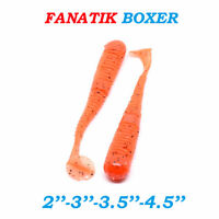 "Fanatik BOXER (Vibrotail) 2""-4.5"" Eatable Soft Fishing Lures Silicone Baits"