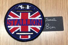 1 X SMALL 8cm UNION JACK Stallion Showing Bridle Discs Disk Badge
