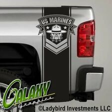 USMC Marine Bulldog Truck Bed Decals Stripes (Pair) - Ram Chevy Ford F150 Toyota