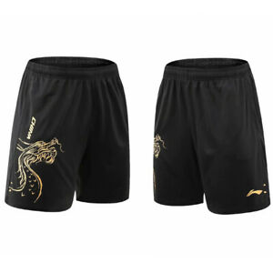 New Li Ning Outdoor sports shorts men Badminton Tennis pants print China dragon