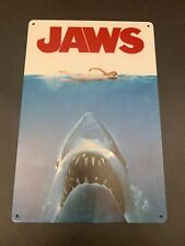 Jaws *1975 Movie Poster Steven Spielberg Shark Metal Tin Sign