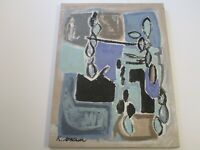 LARGE KENNETH JOAQUIN PAINTING CALIFORNIA MODERNIST ABSTRACT EXPRESSIONISM 40""