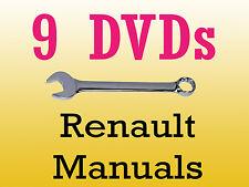 Renault dialogys workshop manuals parts wiring schematics 9 dvd
