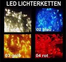 200er LED LICHTER-KETTE 30m INNEN & AUSSEN BELEUCHTUNG  BLAU / TRANSPARENT 99471