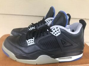 Nike Air Jordan 4 Retro Motorsports Alternate 308497-006 Blue Black Grey Sz 11