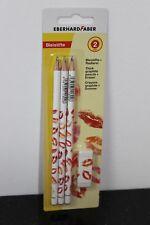 Eberhard Faber 3 lápiz labios ardientes + borrador eberhardfaber