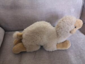 """Russ Berrie Camel .Soft Toy. One Hump. Lying Down. VGC. 13"""" Length."""