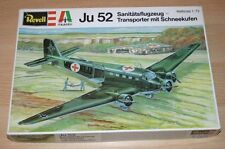 28-2018 REVELL ITALERI 1/72nd SCALE JUNKERS JU 52 PLASTIC MODEL KIT